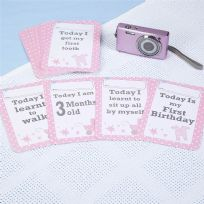 Tiny Feet Baby Girl Milestone Cards (28)